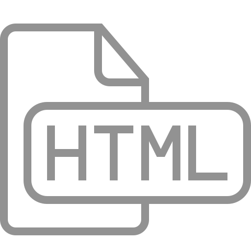 document, file, html icon