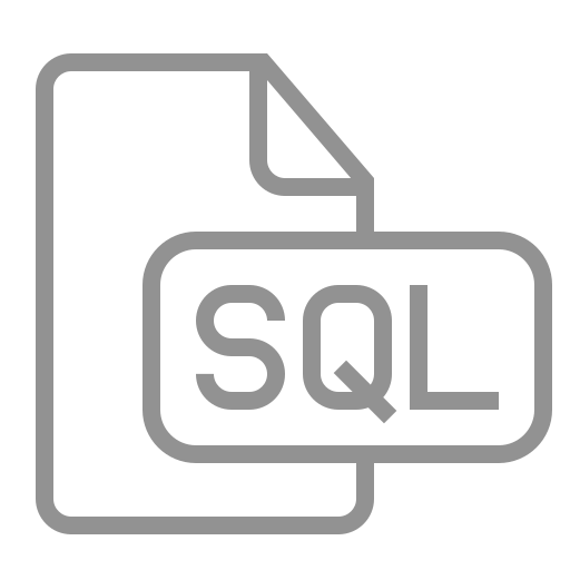 document, file, sql icon