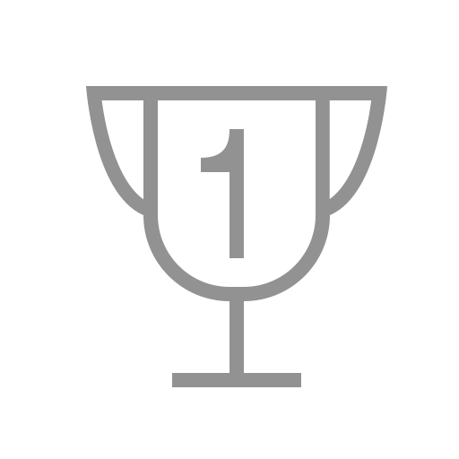one, trophy icon