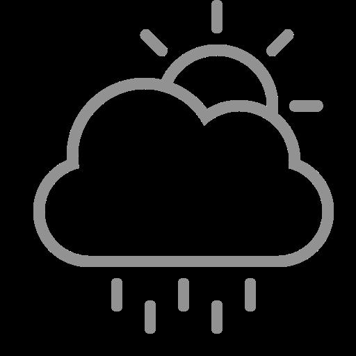 cloud, rain, sun icon