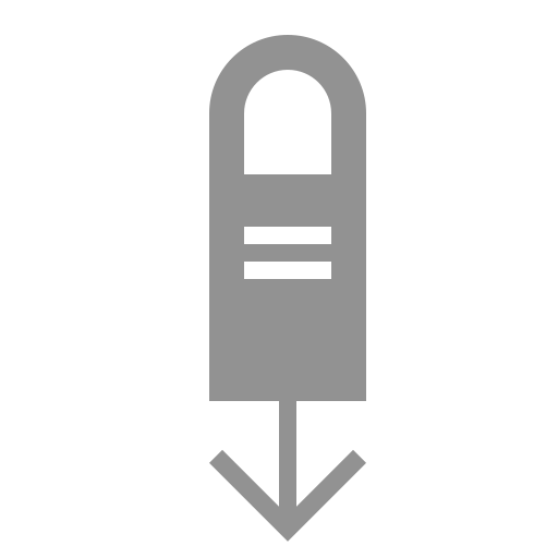 down, finger, one, swipe icon