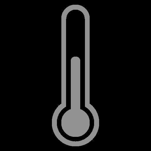 half, thermometer icon