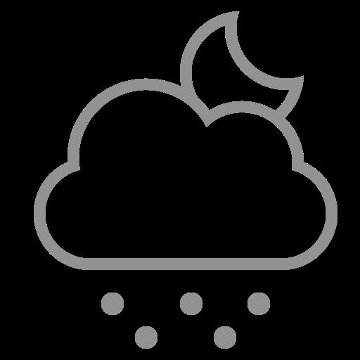 cloud, moon, snow icon