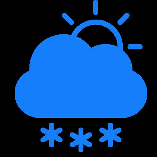 cloud, snowflakes, sun icon