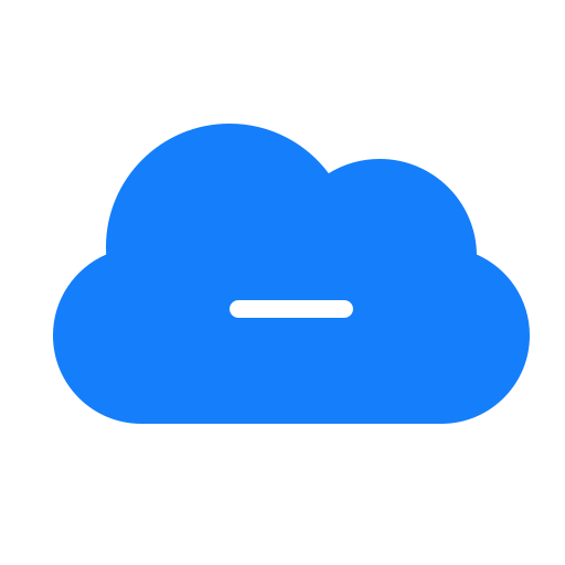 cloud, remove icon