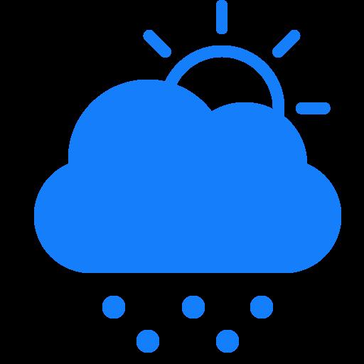 cloud, snow, sun icon