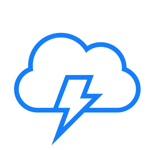 cloud, lightning icon