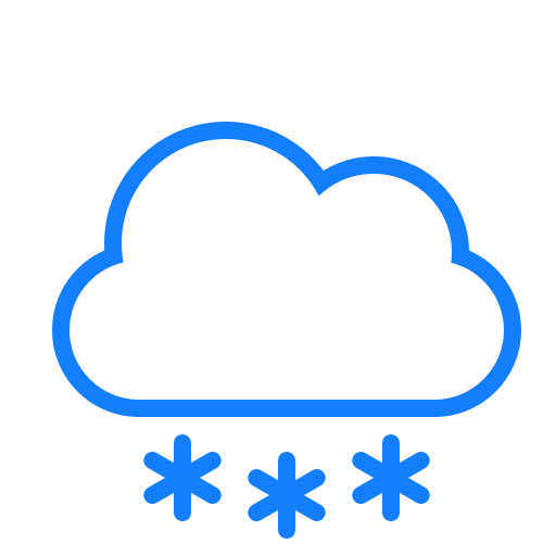 cloud, snowflakes icon