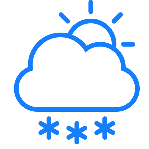 cloud, snowflakes, sun icon