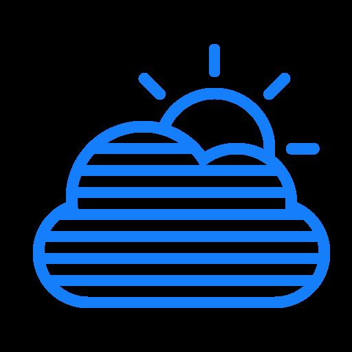cloud, fog, sun icon