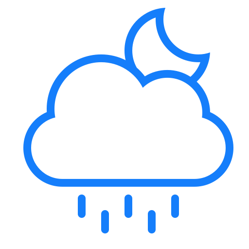 cloud, moon, rain icon