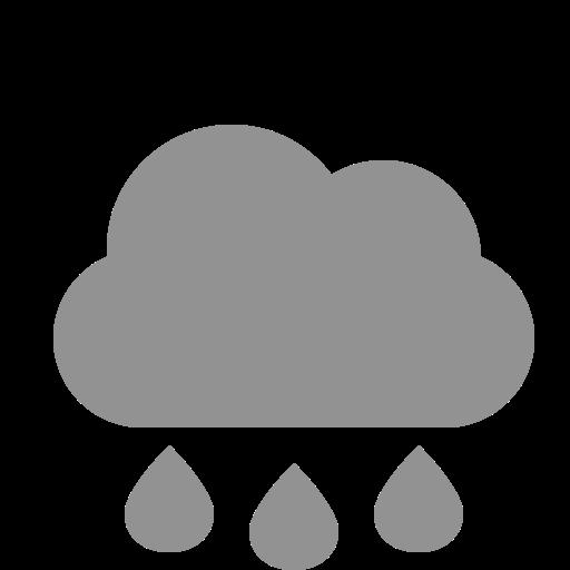 cloud, raindrops icon