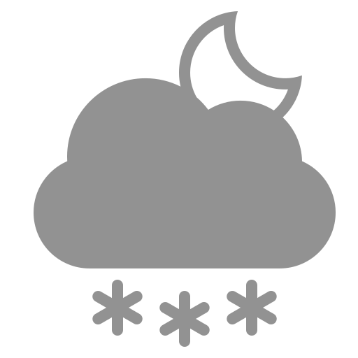 cloud, moon, snowflakes icon