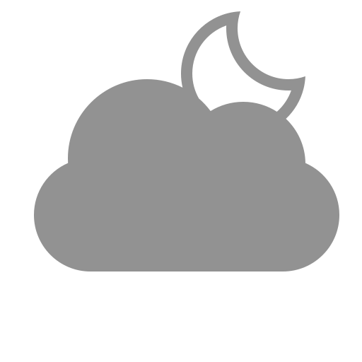 cloud, moon icon