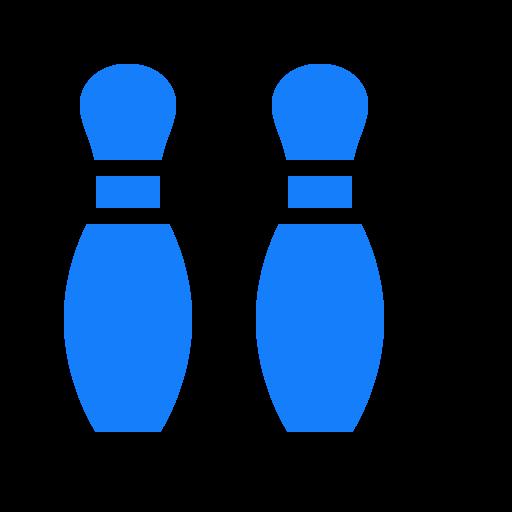bowling, pins icon