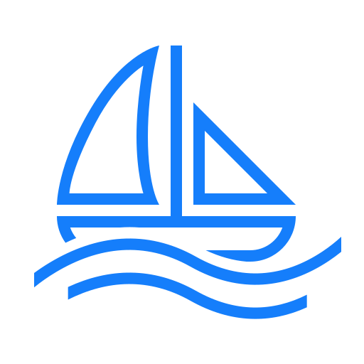 boat, sailing, water icon