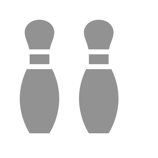 bowling, pins icon