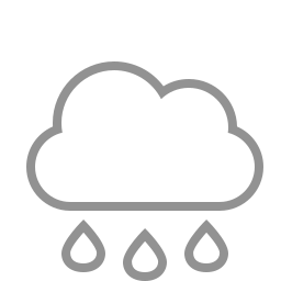 cloud, raindrops icon