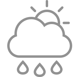 cloud, raindrops, sun icon