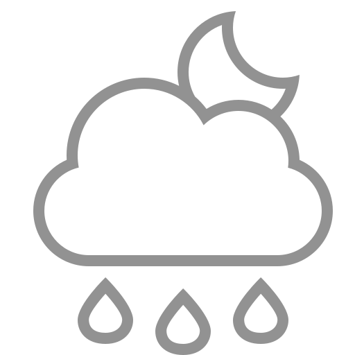 cloud, moon, raindrops icon