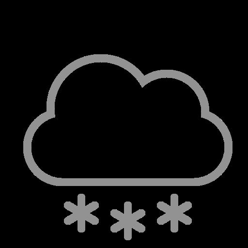 cloud, snowflakes icon
