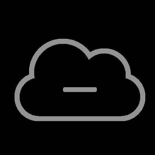 cloud, remove icon