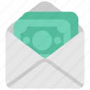 business, cash, envelope, finance, headhunting, money, payment icon