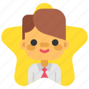best, business, headhunting, keyperson, man, star, user icon