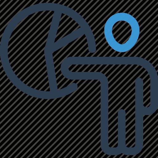 chart, diagram, hr, job, man, presenter, worker icon