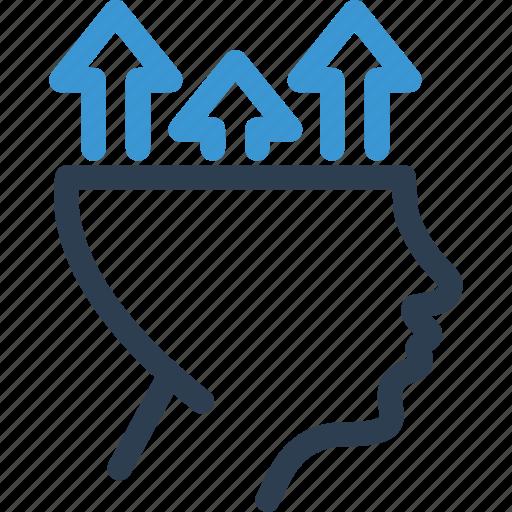 arrow, head, hr, improvement, skill, talent, up icon