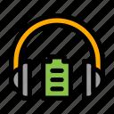 battery, headphones, high, level