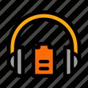 battery, headphones, level, medium icon