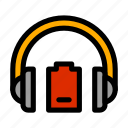 battery, headphones, level, low