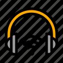 device, headphones, music, wi-fi, wireless icon