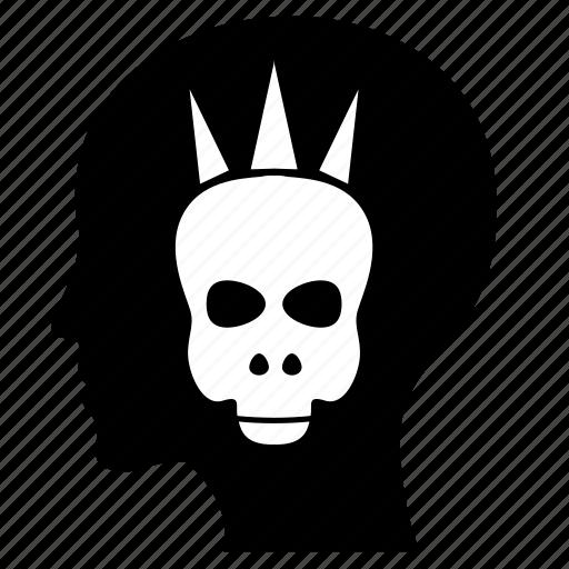 anarchy, head, man, mind, skull icon