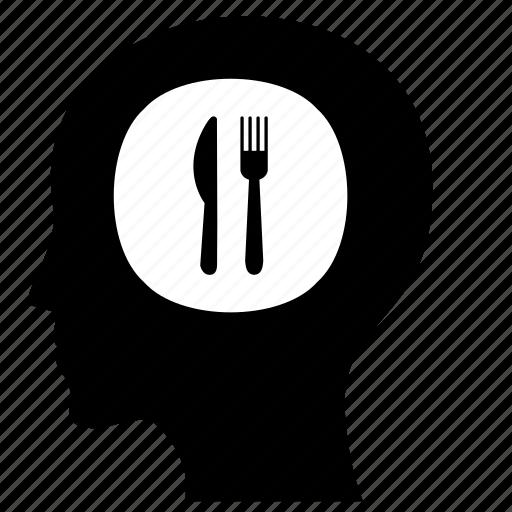 eat, food, head, man, want icon