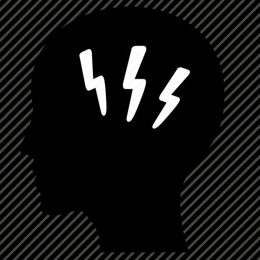 head, man, mind, shock, wow icon