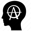 anarchy, head, man, mind, think icon