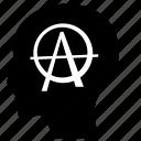 anarchy, head, man, mind, think icon