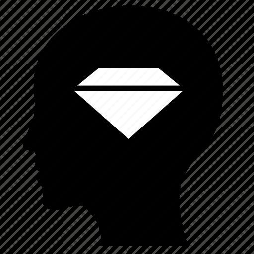 diamond, head, jewerly, luxury, man icon