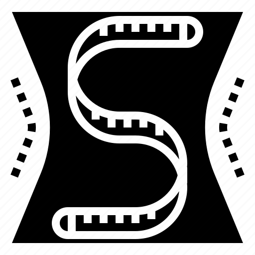 band, bmi, body, measurement, shape, size icon
