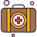 aid, briefcase, care, first, health