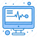 electronics, medical, monitor, reports icon
