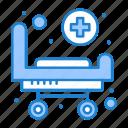bed, hospital, stretcher, wheels