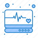 emergency, medical, monitor, supervision icon