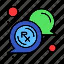bubble, medical, message, rx