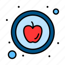 apple, food, healthy icon