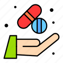 tablet, pharmacologic, pills, treatment, hand