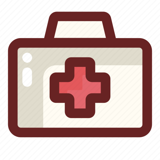 doctor, first aid kit, health care, hospital, medical icon