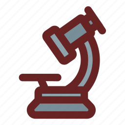 medical, microscope, observation, science, scientific icon
